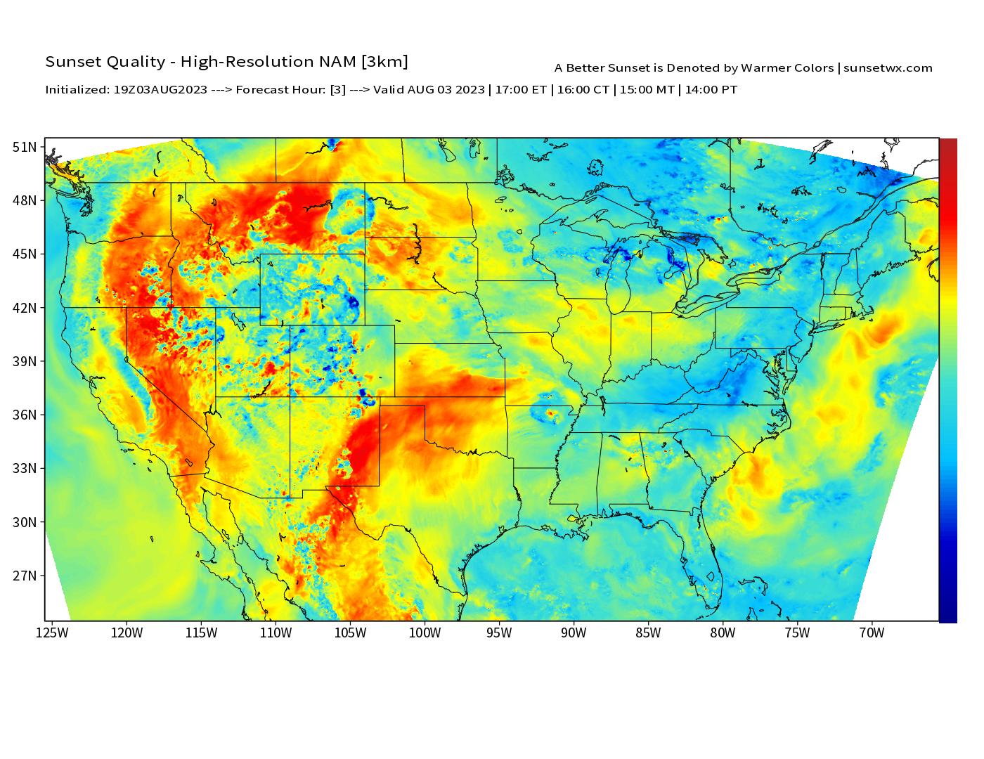 Sunset Forecast